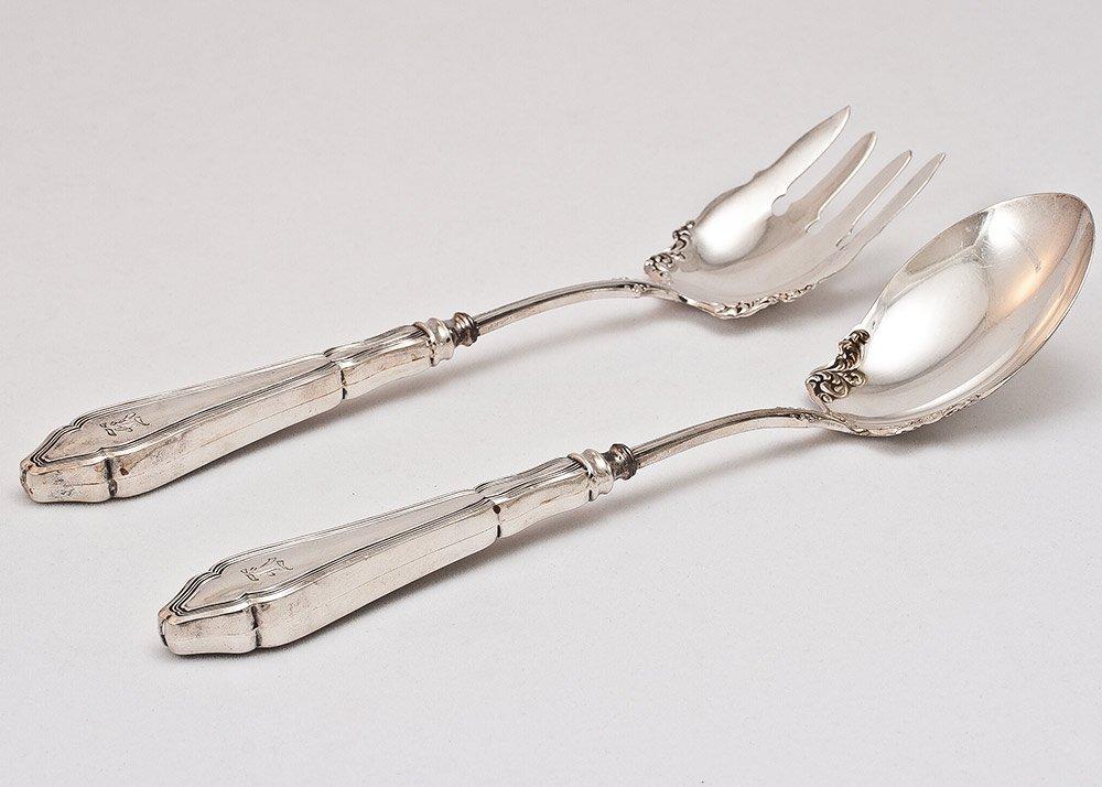 9: Sterling Silver Serving Set 190g