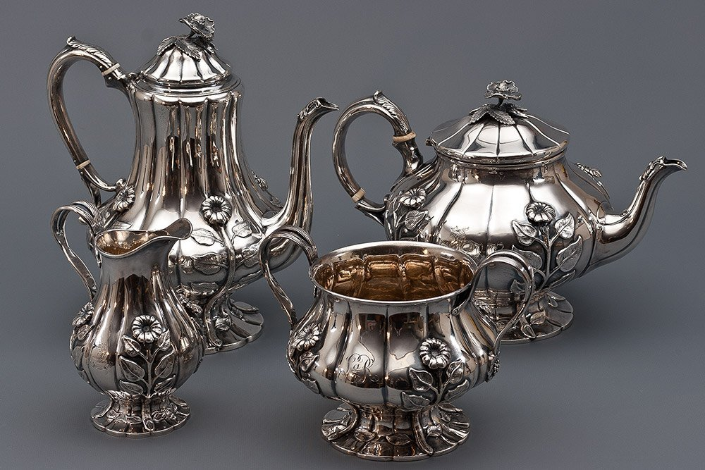 11: English Sterling Silver Tea Set 2.849g