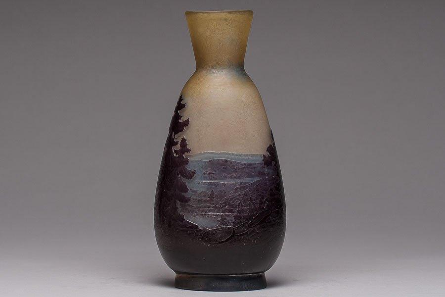 238: Art Deco Glass Vase. Signed Galle