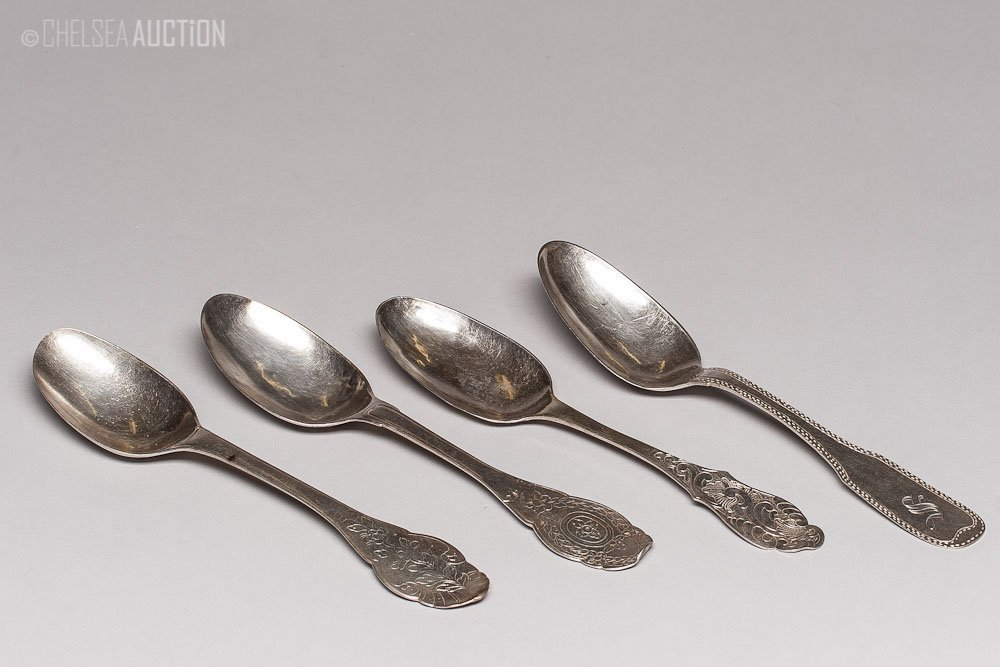 4: Old European Silver Spoons 6.38ozt