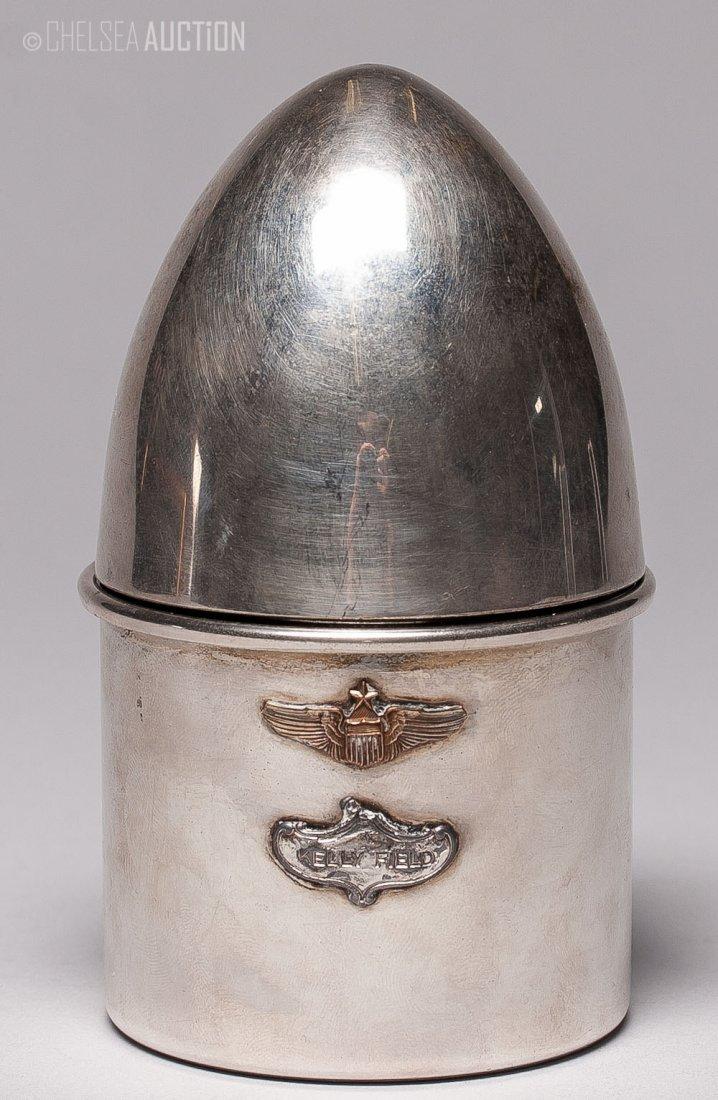 6: American Silver Glass Holder