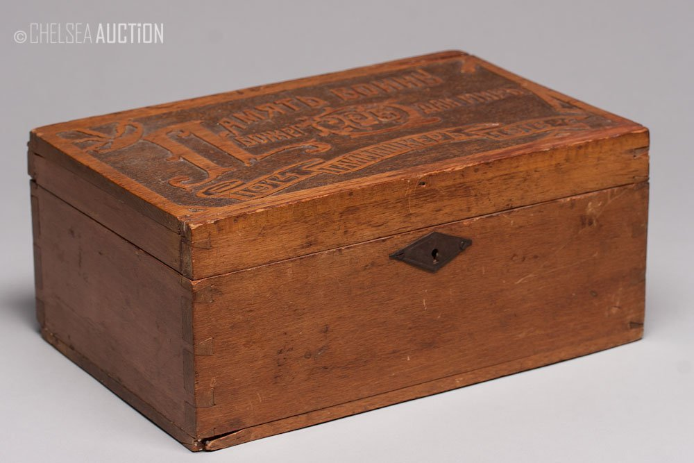 10: Ca. 1916 Russian Wooden Box