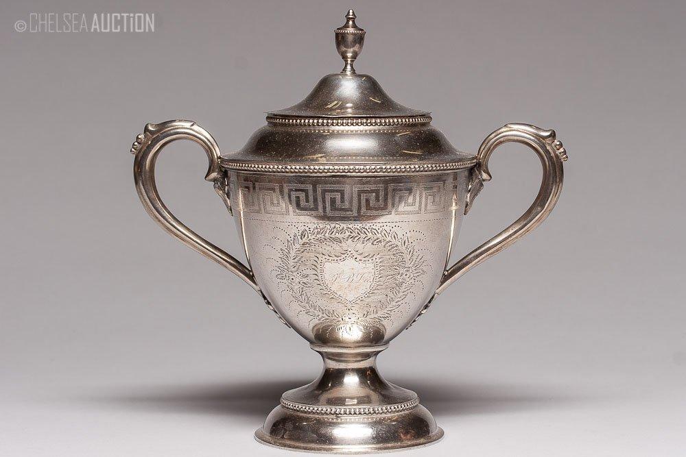 14: 19th C. American Silver Urn 13 ozt