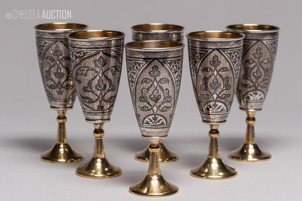 17: 20th C. Russian Silver Vodka Cup