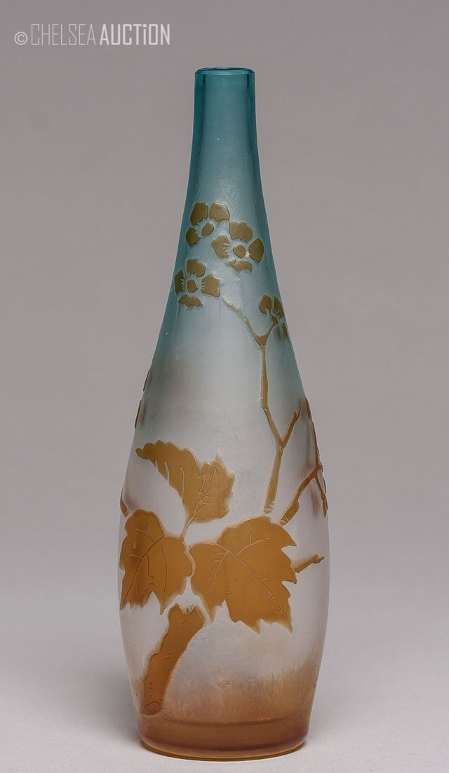 23: Old French Cameo Glass Vase