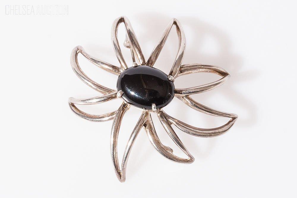 1: Tiffany & Co. Silver w/ Black Onyx Brooch