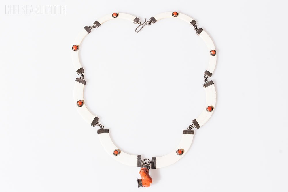 3: Ivory & Silver Coral Necklace