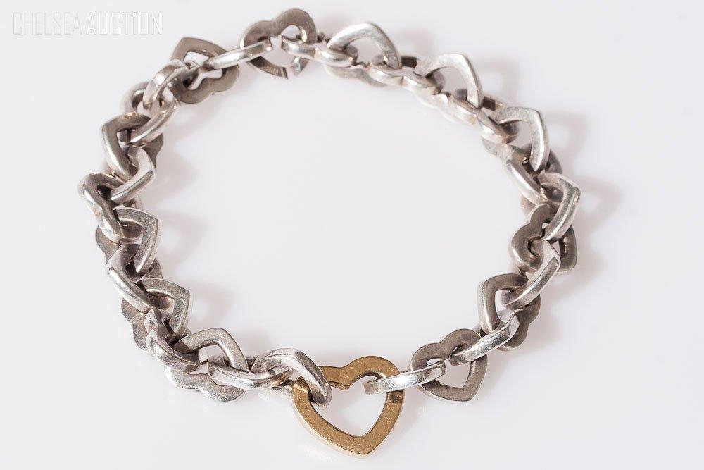 23: 18K Gold Bracelet: Tiffany & Co. (Silver 925) Italy