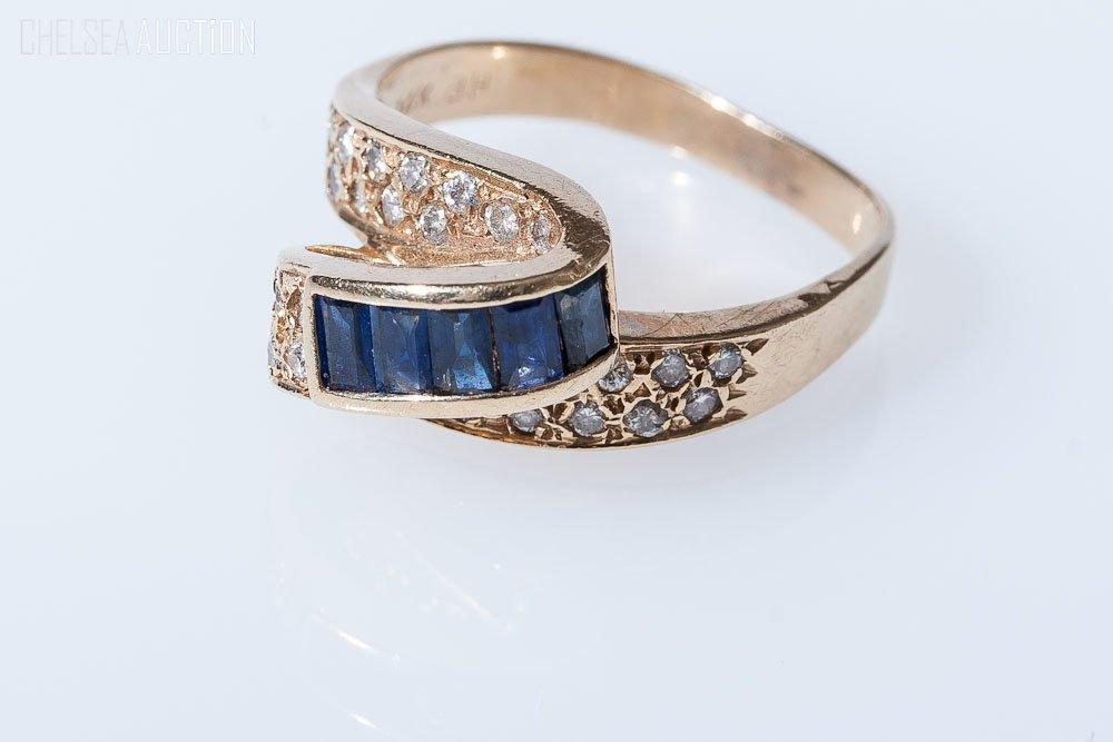 96 14k yellow gold ring w diamonds u0026 sapphires by bh
