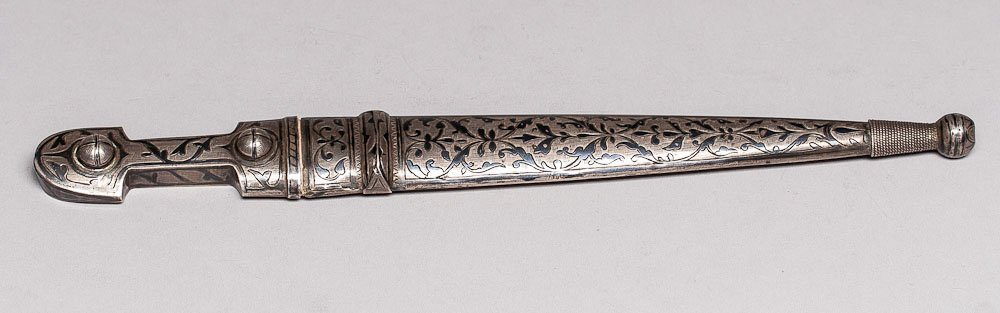 19th C. European Silver Dagger