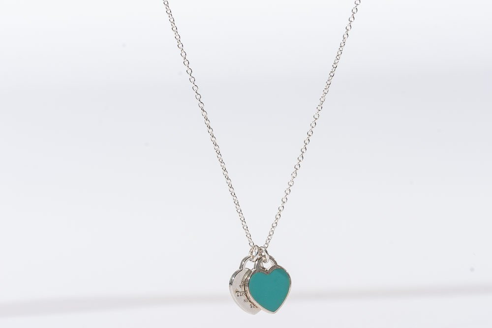 Tiffany & Co. Silver Necklace w/ Enamel