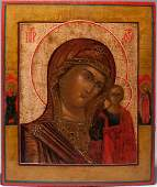 19th C Russian Icon Kazan Mother of God
