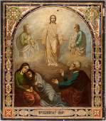 19th C. Russian Icon: Transfiguration of Jesus
