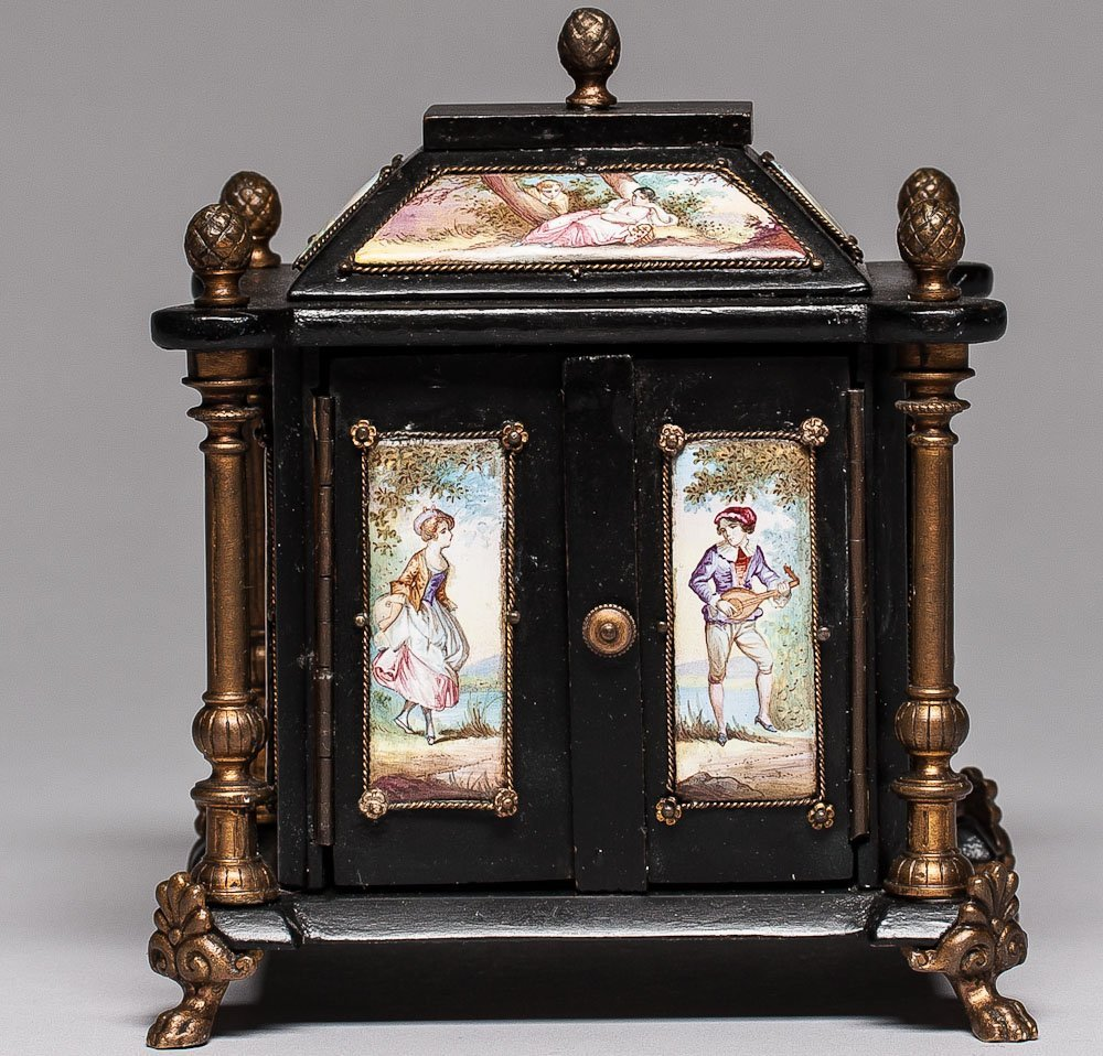 Ca. 1800 Viennese Hand Painted Jewelry Box
