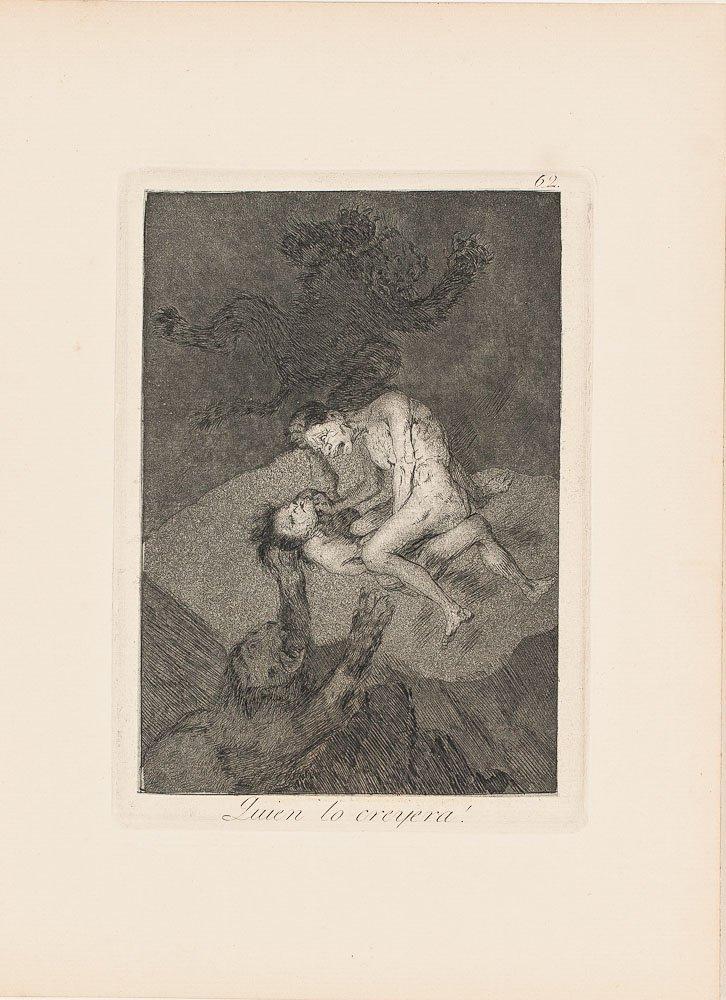 Etching by Francisco de Goya