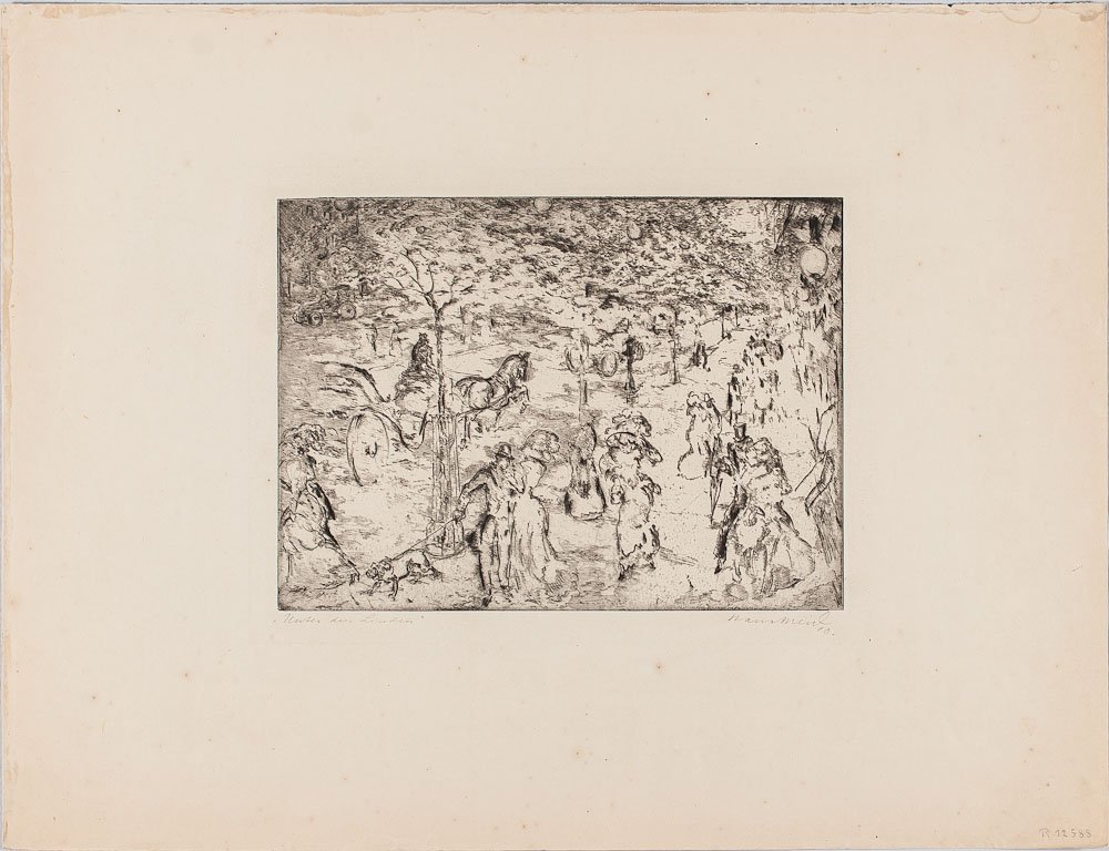 Etching by Hans Meid (German, 1883-1957)