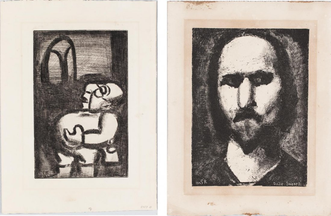 Two prints by Georges Henri Rouault ( French, 1871-1958