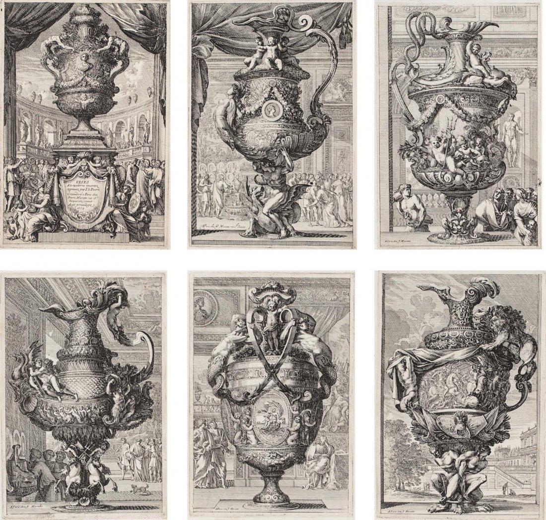 6 Etchings by Jean Le Pautre