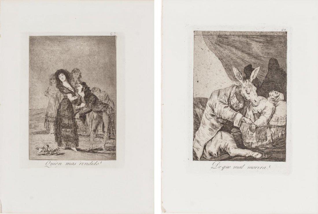 two Etching by Francisco de Goya