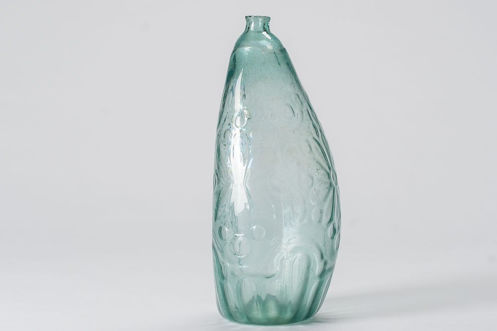 1850 Mold-Blown Aquamarine color Glass