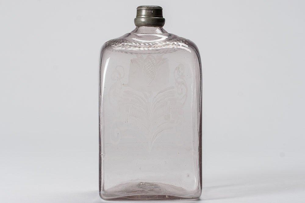 1750-1790 hand-blown Glass w/ Engravings