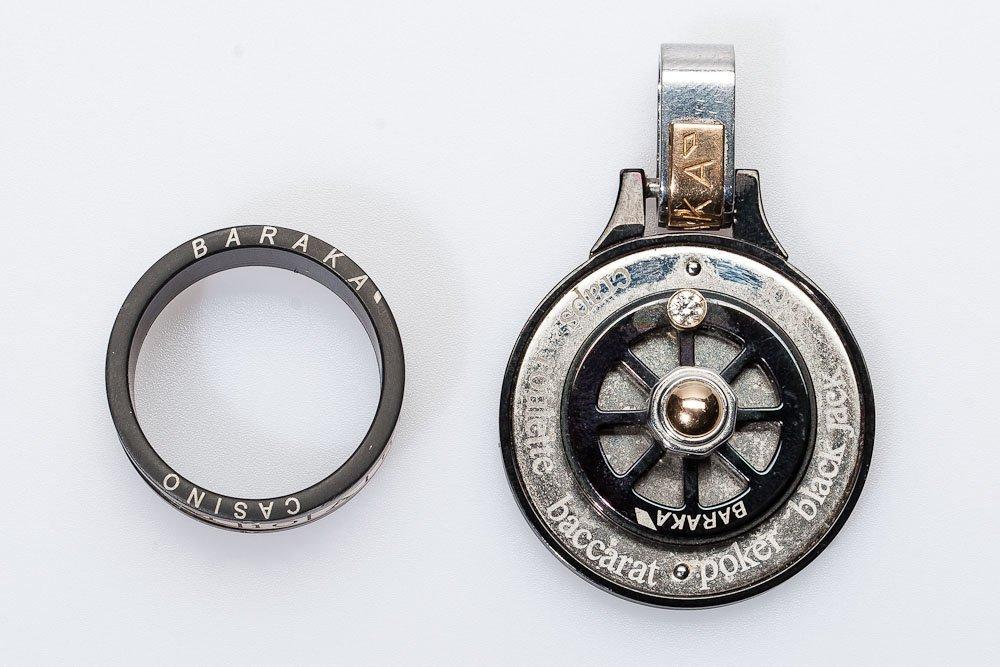 Men's Gold & Diamond Ring w/ Key Chain by Baraka
