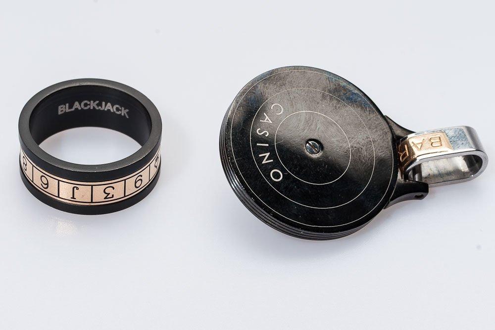 Men's Gold & Diamond Ring w/ Key Chain by Baraka - 3