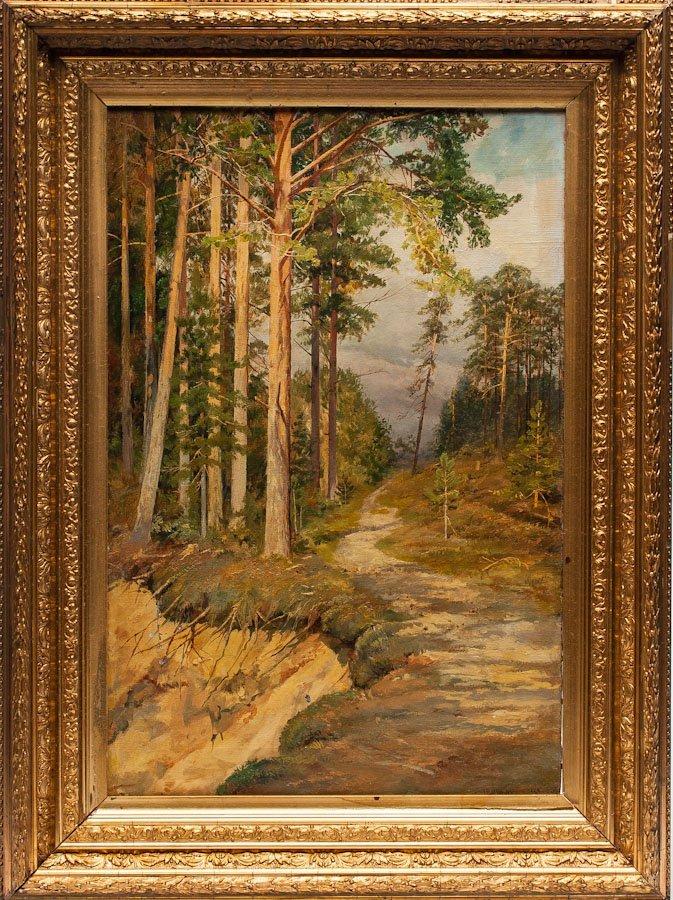 A Russian painting attributed to Shishkin, O/C, 1889