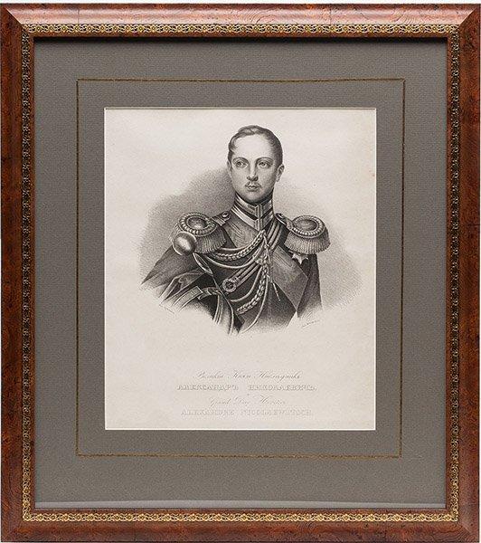 A Russian Lithograph of Alexander II,  ca. 1838