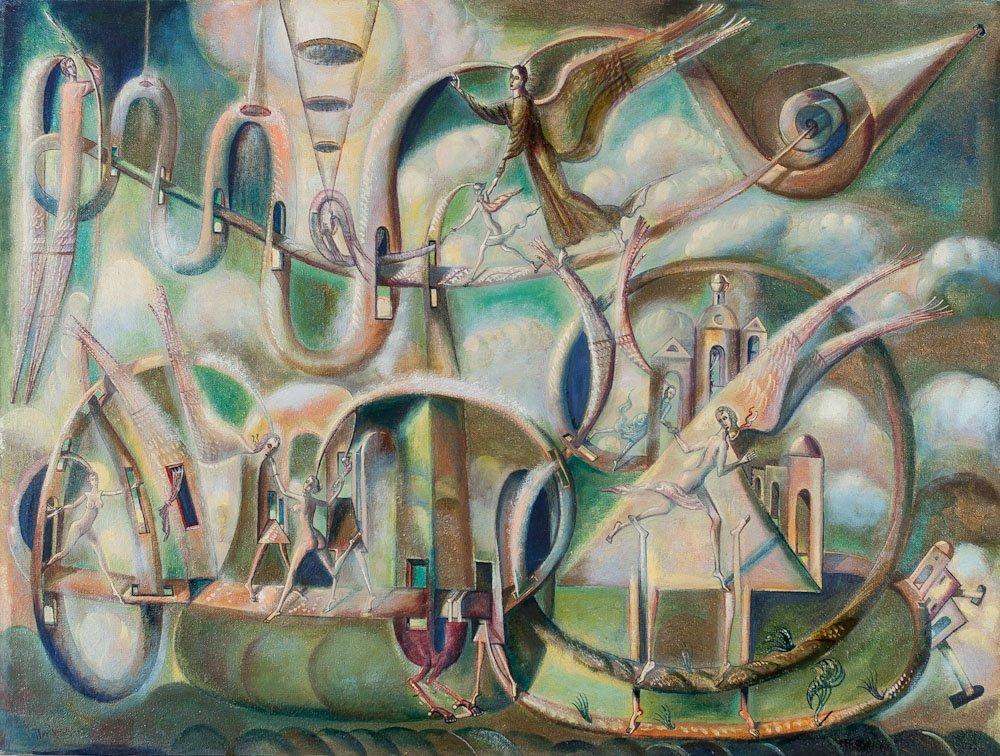 Russian artist Sergei Vladimirov Potapov, A/C