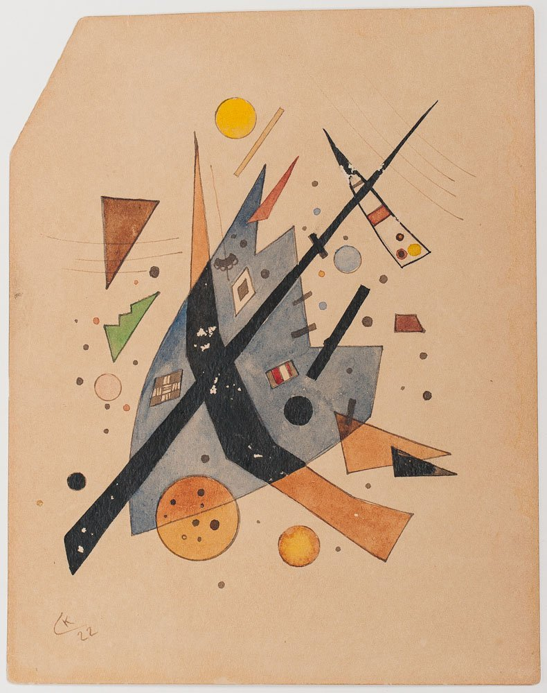 A Water Color On Paper Signed Kandinsky, 1922