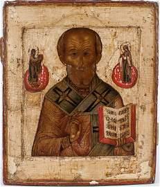 A Russian Icon Of St. Nicholas, 16th - 17th C.