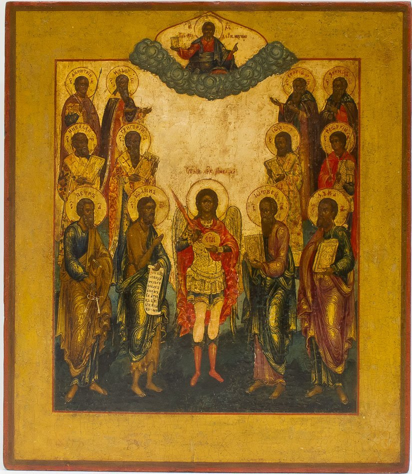 A RUSSIAN ICON OF ARCHANGEL MICHAEL