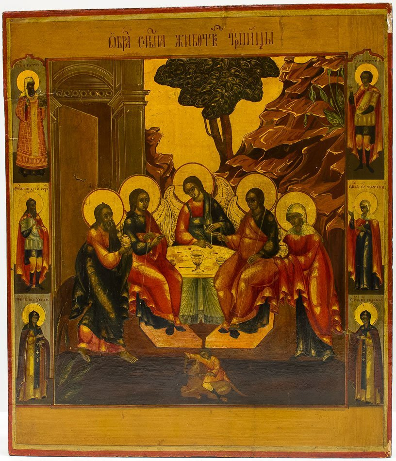A RUSSIAN ICON OF TRINITY