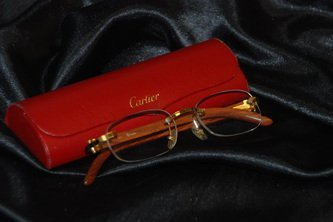 Cartier Reading Glasses in Red Case