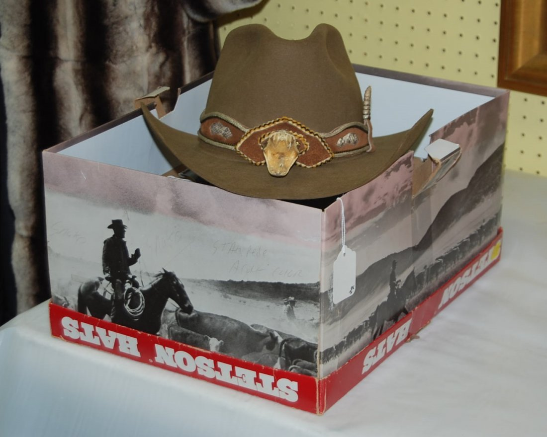 Stetson Hat with Rattlesnake Trim