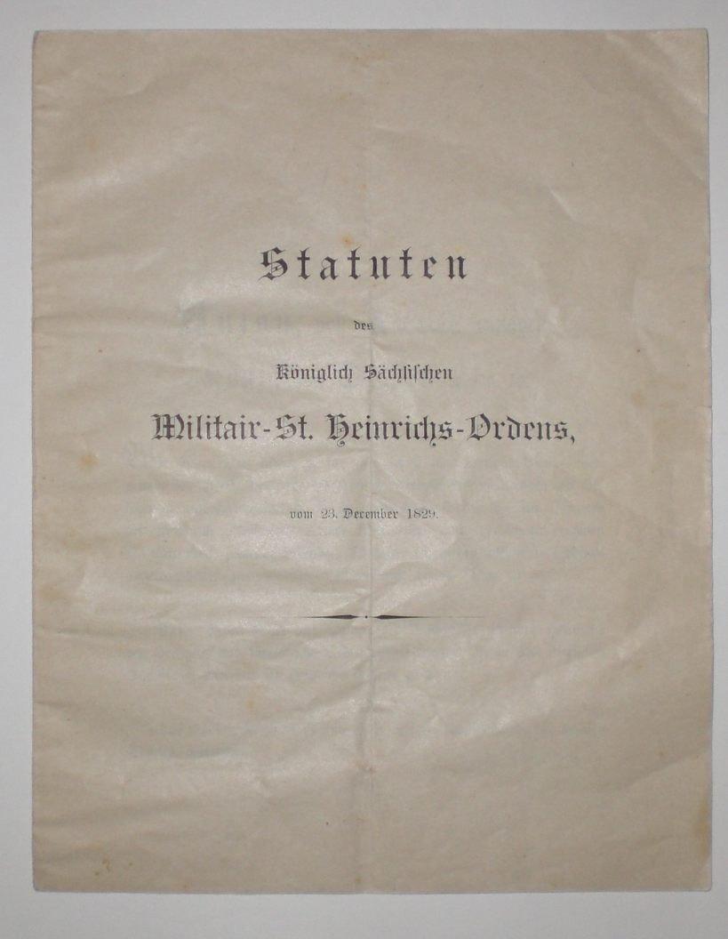 2: Königreich Sachsen, Königlich Sächsischer Militär-St