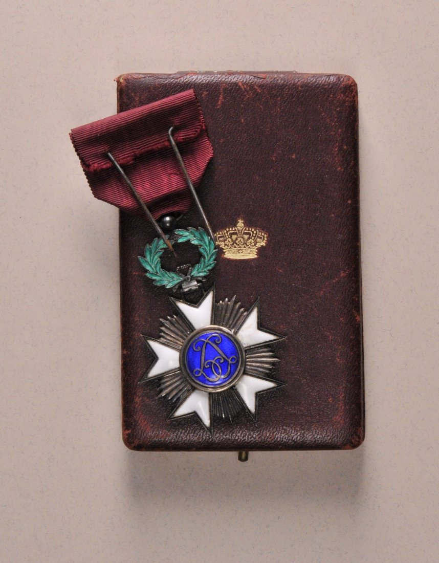 14: Kronen-Orden  Ritterkreuz  im Etui.