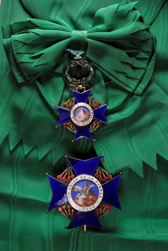 22: Nationalorden des Kondors der Anden  Großkreuzsatz.