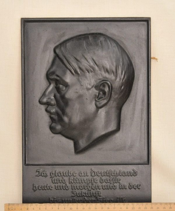 474: Germany (1933-1945) - Adolf Hitler plaque. - 3