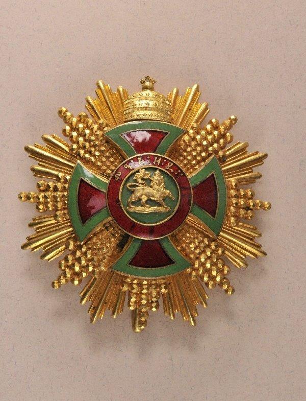 Ethiopia - Order of Emperor Menelik II., Grandcross Sta