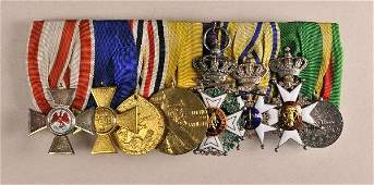 Prussia - Large mounted medalbar of Fregattenkapit�n a.
