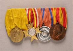 Baden - Large mounted medalbar with 4 decorations.