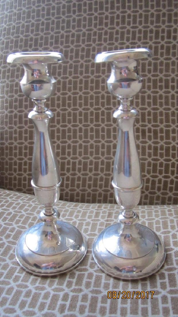 PAIR STERLING 9 INCH CANDLESTICKS SIGNED P.S. CO. -