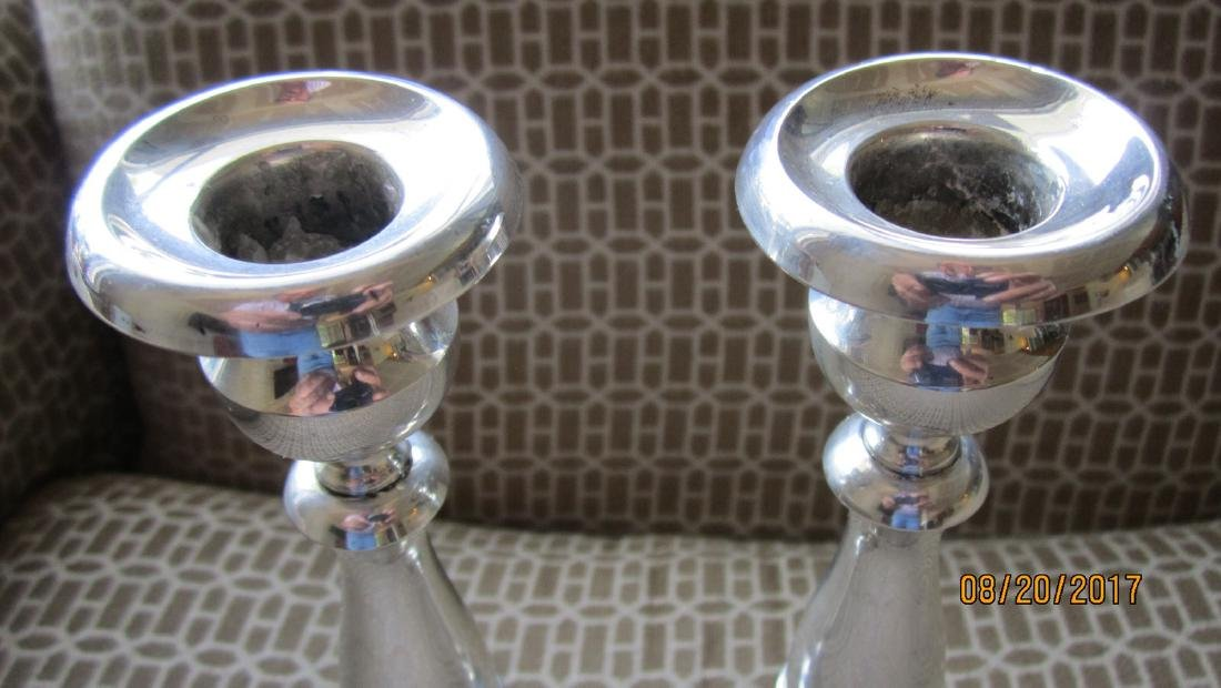 PAIR STERLING 9 INCH CANDLESTICKS SIGNED P.S. CO. - - 2