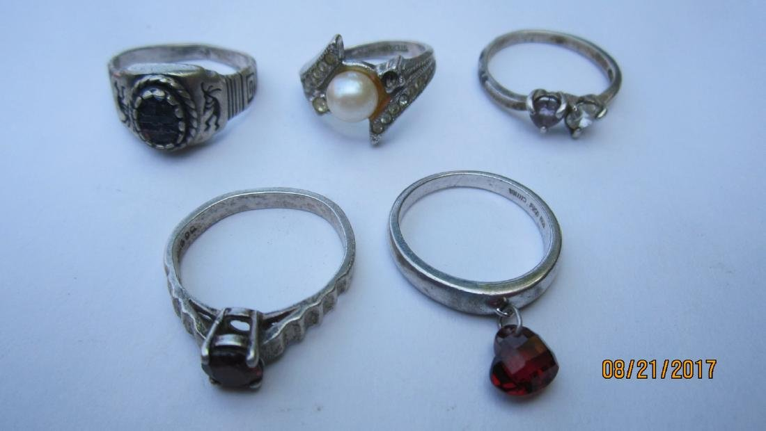 LOT OF 15 STERLING NICE ASSORTED RINGS - - EXC.COND - 3
