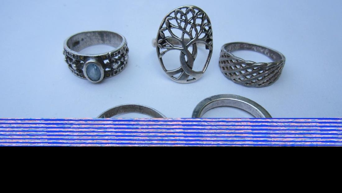 LOT OF 15 STERLING NICE ASSORTED RINGS - - EXC.COND - 4