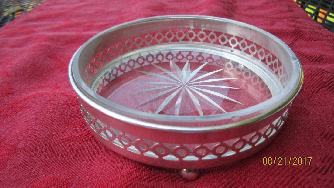 UNUSUAL STERLING WINE COASTER SIGNED SHREVE & CO. WITH