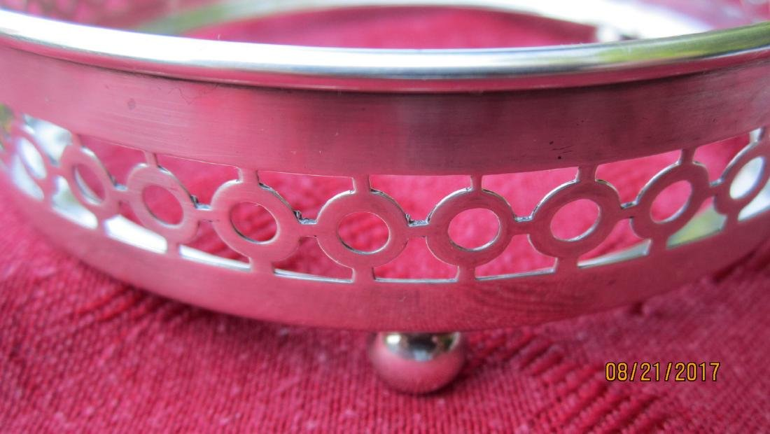 UNUSUAL STERLING WINE COASTER SIGNED SHREVE & CO. WITH - 2