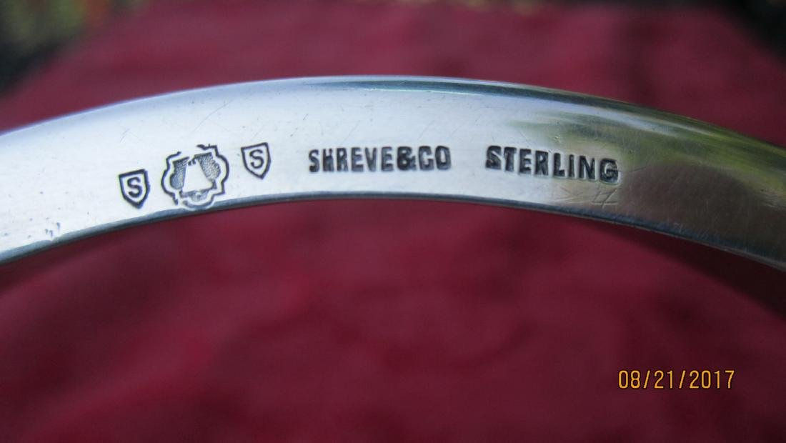 UNUSUAL STERLING WINE COASTER SIGNED SHREVE & CO. WITH - 3